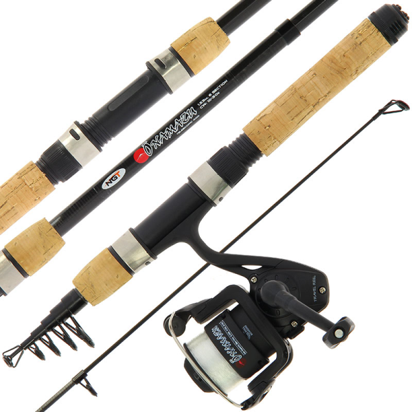 NGT Onamazu - Mini Telescopic Rod and Reel Combo with Cork Handle
