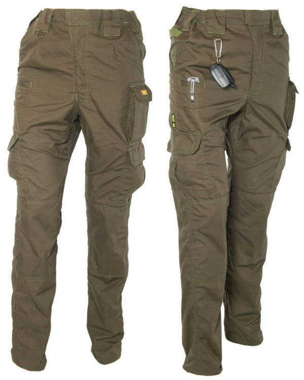 Tactic Carp Trooper Combat Trousers in Green or Camo - Green