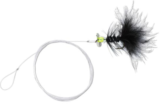 4 x Quantum Magic Trout Streamer Rig (6 Valgmuligheder) - Black/Yellow